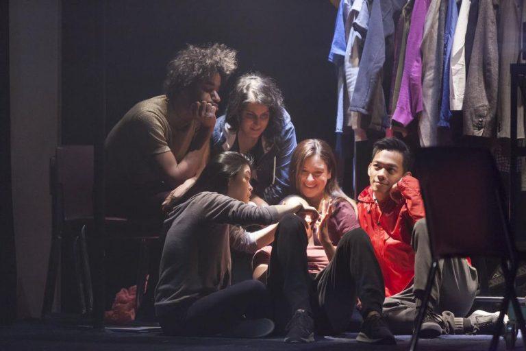 Actors rehearsing Towards Youth