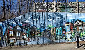 Graffiti wall in Toronto