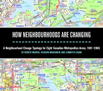 """Toronto map with a black textbox through the middle that says """"How Neighbourhoods are Changing"""""""