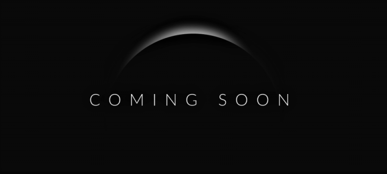 "Black image with white moon reflection and the text ""Coming Soon"""