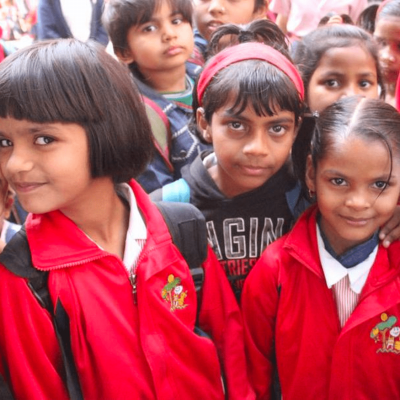 Image of young girls who attend Prerna in Lucknow, India