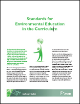 Cover page of Standards of Environmental Education document
