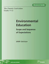 Cover page of Environmental Education Scope and Sequence (grades 9 - 12) report
