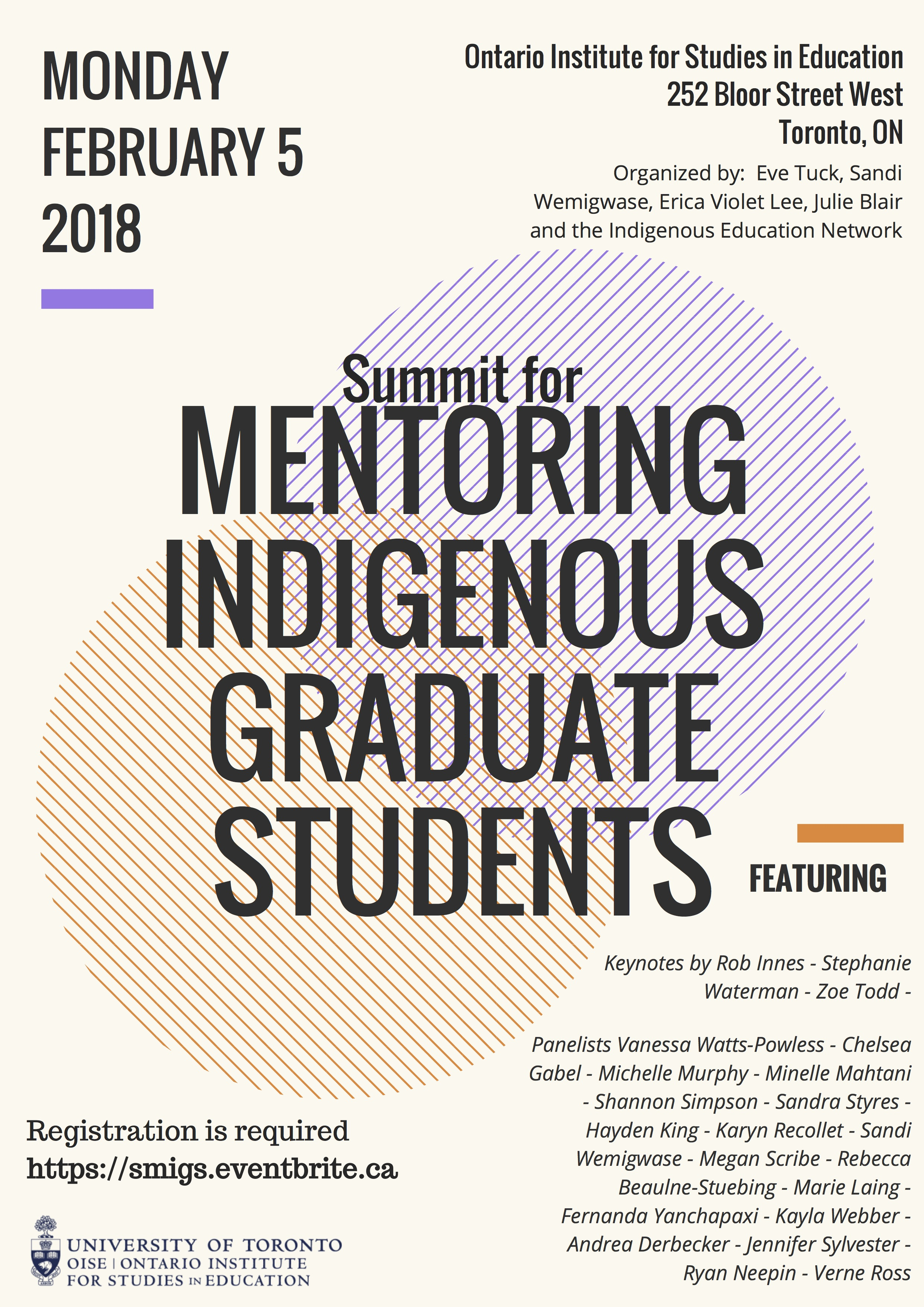 Summit for Mentoring Indigenous Students poster