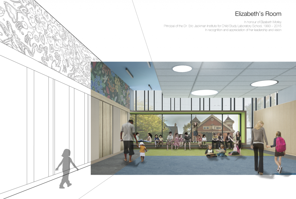 An artist's rendering of the new multi-purpose room, overlooking Spadina Ave.