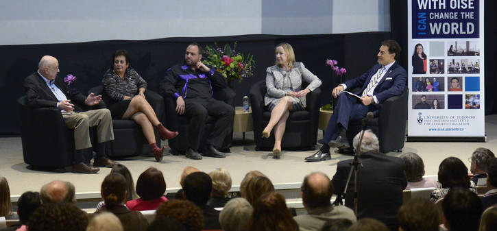 Panelists at OISE's 50th anniversary Jackson Lecture