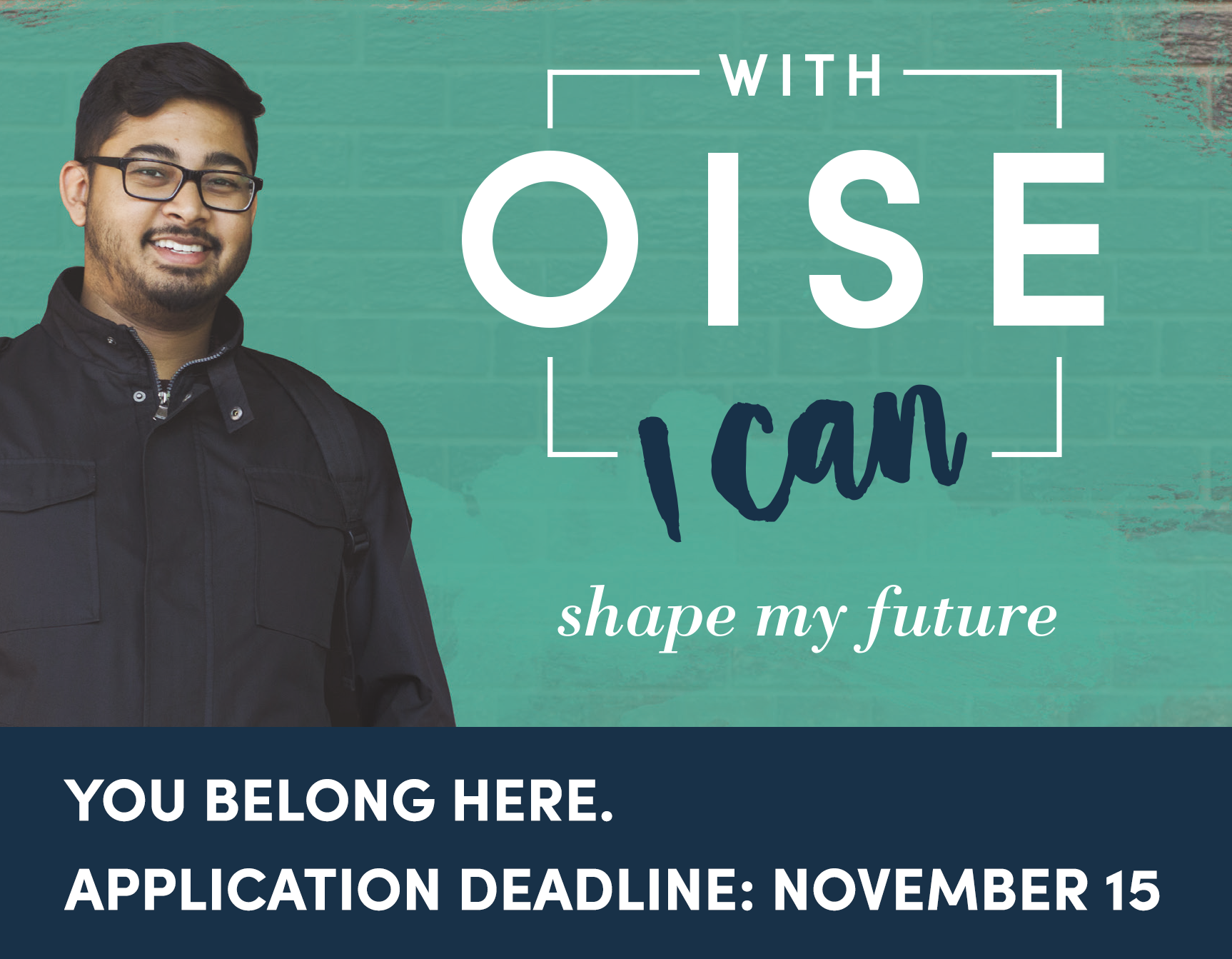 Apply for graduate studies at the Ontario Institute for Studies in Education. The application deadline for Fall 2018 is November 15, 2017. Learn more.