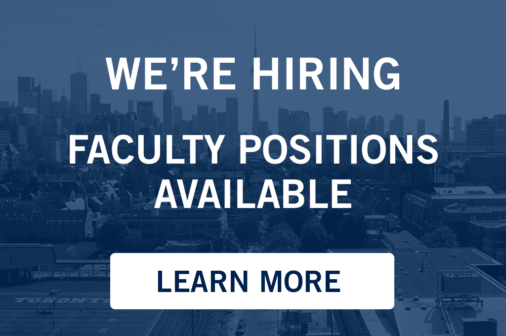 OISE is looking to fill four faculty positions