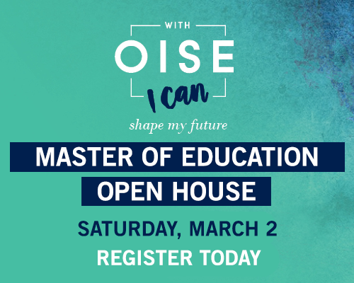 Learn more about our Master of Education Open House on March 2