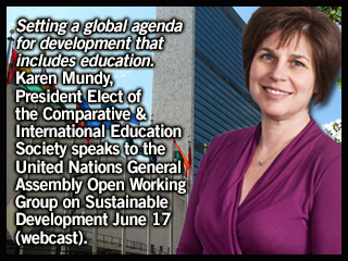 Karen Mundy at UN