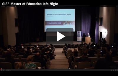 Master of Education Info Night Youtube Video