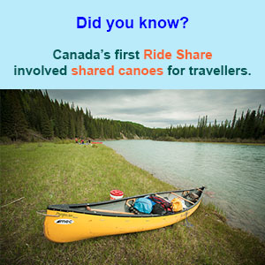 Canada's first Ride Share involved shared canoes for travellers