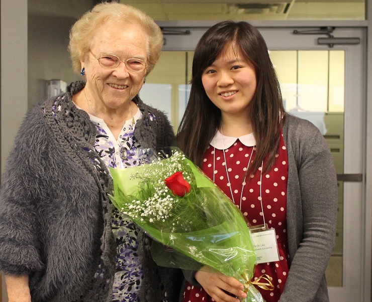 Sister Toni Sheehan and Michelle Lau