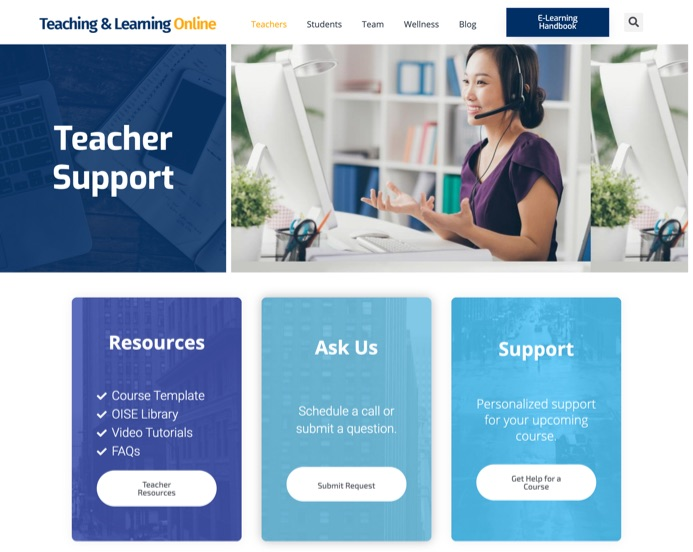 teaching onilne site