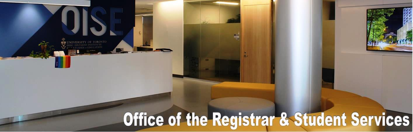 Office of the Registrar and Student Services