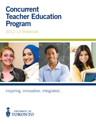 Concurrent Teacher Education Program